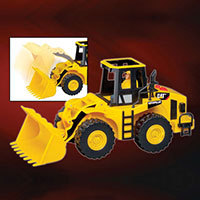 CAT Wheel Loader with Lights, Sounds & Figure