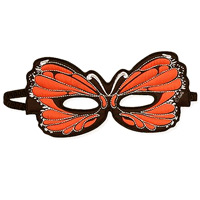 Orange Butterfly Mask