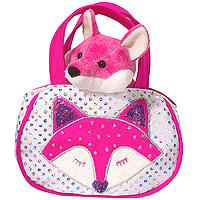 Shimmering Fox Sak with Pink Fox