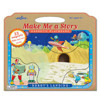 Make Me A Story Magnetic Playboard - Robots Landing