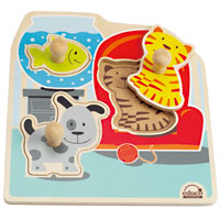 Educo Friendly Pets Knob Puzzle