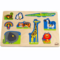 Educo Wild Animals Peg Puzzle