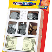 Let's Pretend Play Money Coins & Bills
