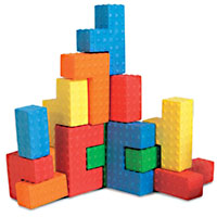 Sensory Puzzle Blocks - 18 pc