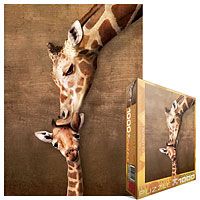 Giraffe Mother's Kiss 1000 piece puzzle