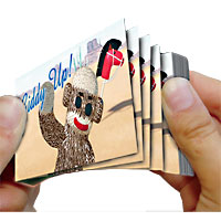 Sock Monkey Flip Book