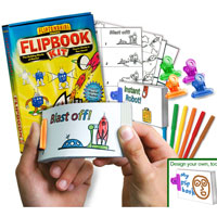 Rocket & Robot D.I.Y. Flip Book Kit