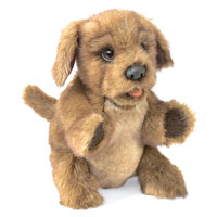 Brown Puppy Dog Puppet