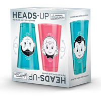 Heads Up Juice Glasses