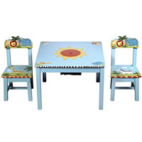 Safari Table & Chairs Set