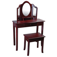 Classic Espresso Vanity and Stool