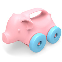 Pig-on-Wheels Push Toy
