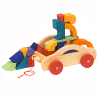 Carriage with Blocks Toskana - 17 pc