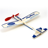 Sky Streak Rubberband Balsa Airplane