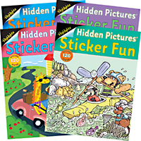 Highlights Sticker Fun Book - 4 book set