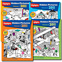 Highlights Hidden Pictures 2011 - 4 book set
