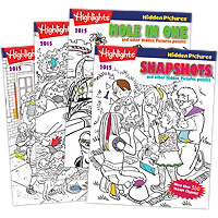Highlights Hidden Pictures 2015 - 4 Book Set