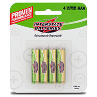 Interstate AAA Batteries - 4 Pack