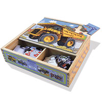 Green Start Jigsaw Puzzle Box Set - Trucks