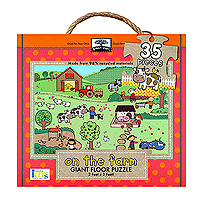 Green Start Giant Floor Puzzle - On The Farm