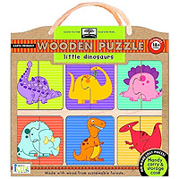Green Start Wooden Puzzle - Little Dinosaurs