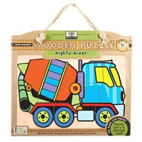 Green Start Wooden Puzzle - Mighty Mixer