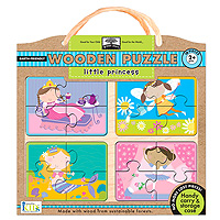 Green Start Wooden Puzzle - Little Princess