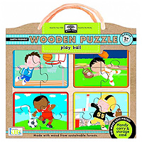 Green Start Wooden Puzzle - Play Ball