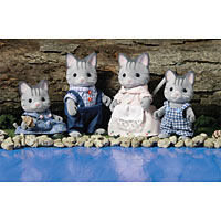 Calico Critters - Fisher Cat Family