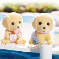 Calico Critters - Yellow Labrador Twins