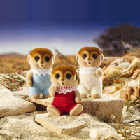Calico Critters - Spotter Meerkat Triplets