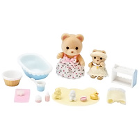 Calico Critters Melissa & Melody's Baby Bath Time