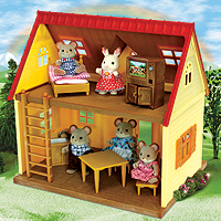 Calico Critters Cozy Cottage with Norwood Mouse Family