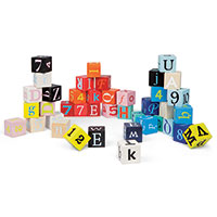 Kubix - 40 Letter & Number Blocks