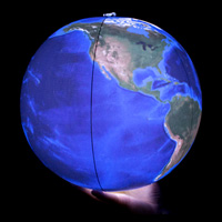 Illuminated Earth - Inflatable Blue Marble Globe
