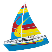 Wave Breakers Sailboat - Blue