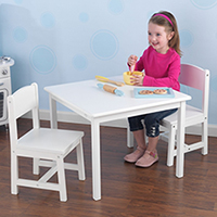 Aspen Table & Two Chair Set - White