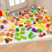 Tasty Treats Pretend Food Set - 115 pc