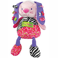 Label Loveys Little Diva Plush Bunny - 12 inch