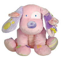 Label Loveys Little Lovey Plush Puppy - 12 inch