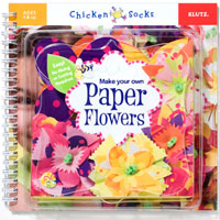 Chicken Socks Paper Flowers