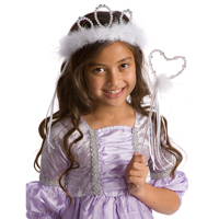 Wand & Tiara Set - White