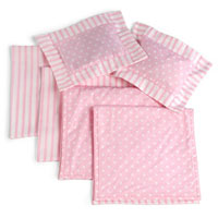 Bunk Bed Pink Stripe Linens