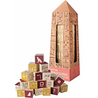 Uncle Goose Blocks - Egyptian Hieroglyphic Blocks