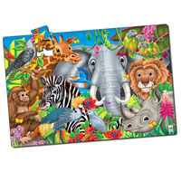 Puzzle Doubles Fun Facts - Animals of the World