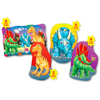 Step Ups! 4-in-A-Box Puzzles - Dino