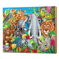 48 pc Lift & Discover Jigsaw Puzzle - Animals of the World