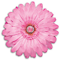 LockerLookz Jeweled Flower Magnet