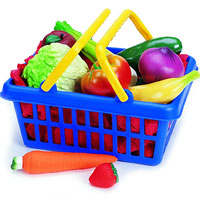Fruit & Vegetable Play Food Basket - Set of 13