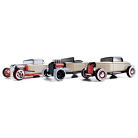 Automoblox Mini 3-pack Hot Rod Cars